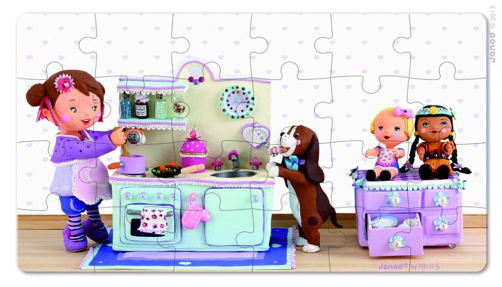 Lovely Puzzle Lola Juega A La Comida