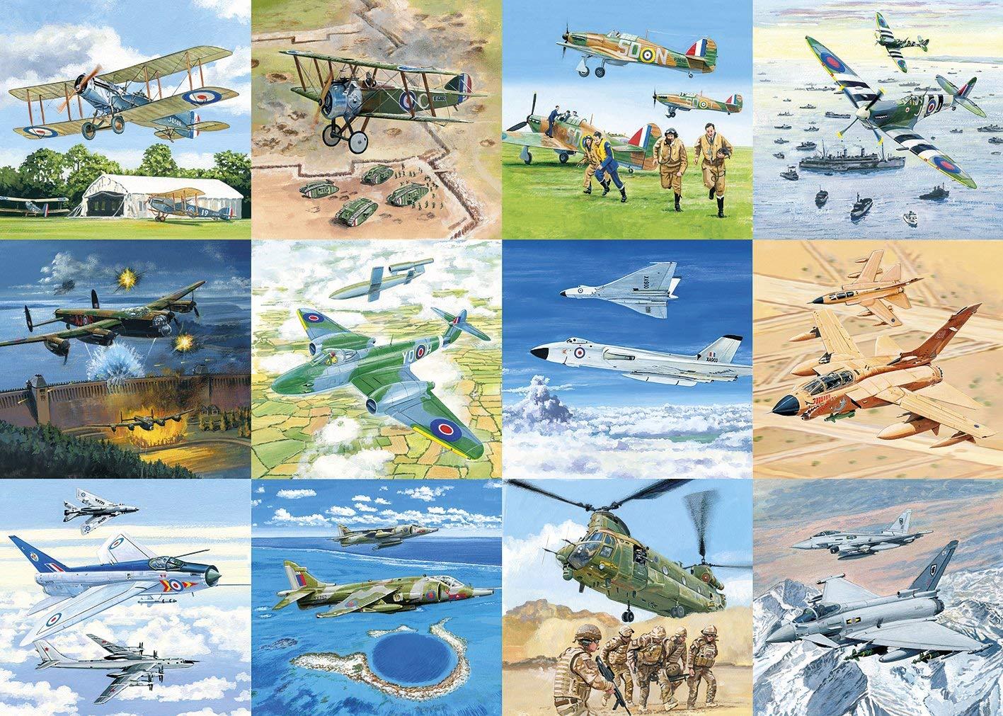 Aviones Británicos de Guerra 1000p.