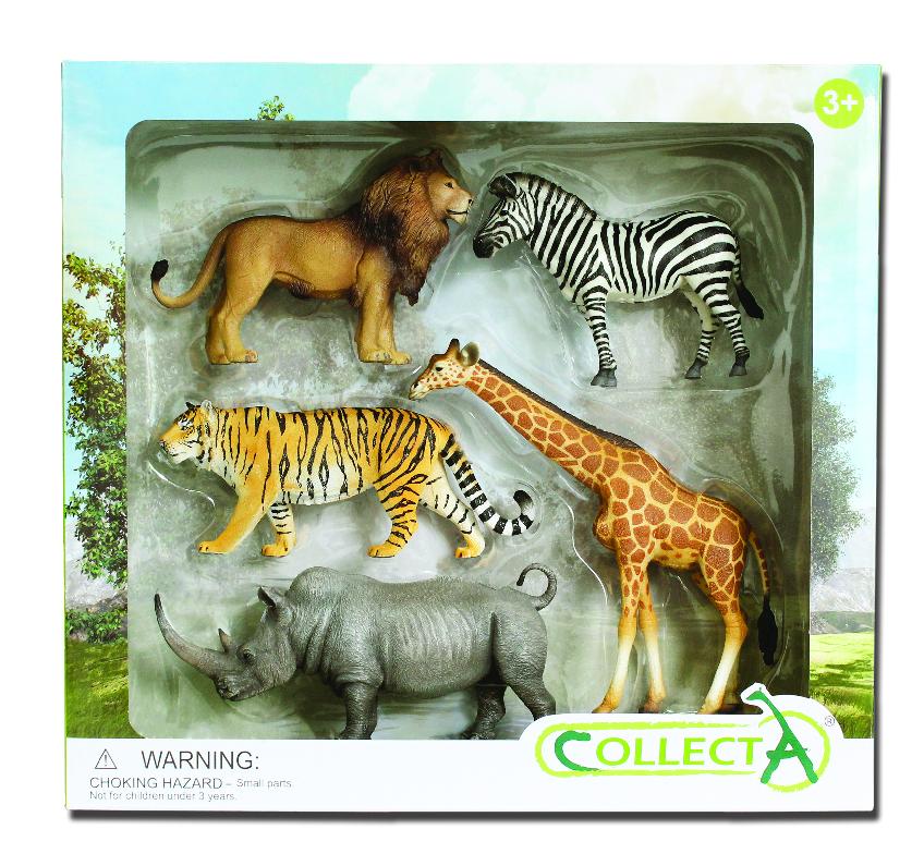 Set 5 piezas Animales Salvajes