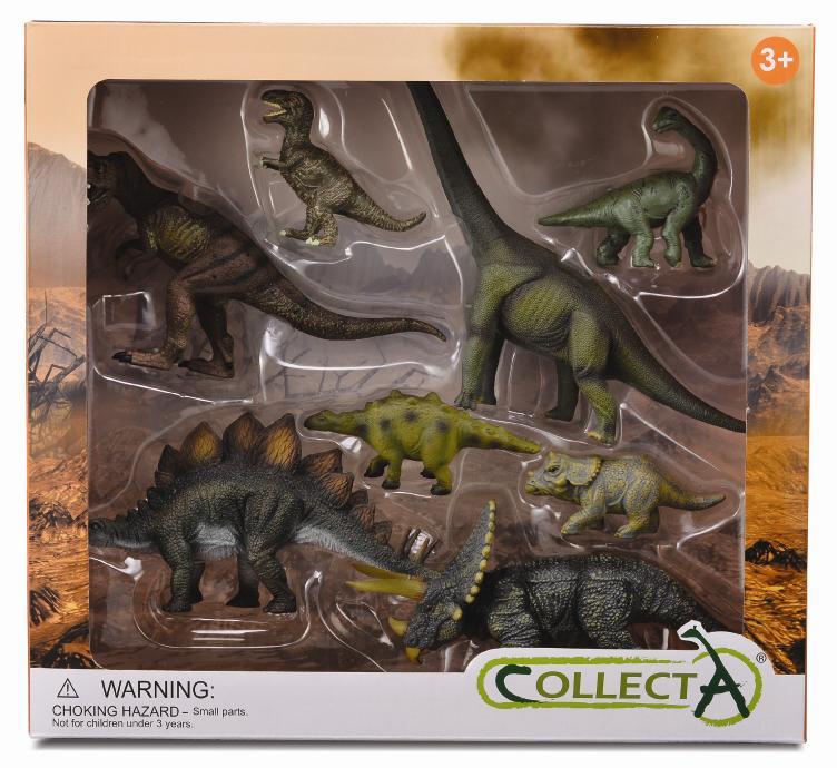 Set 8 piezas Dinosaurios
