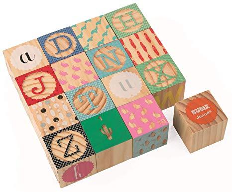 Kubix - 16 cubos grabados alfabeto