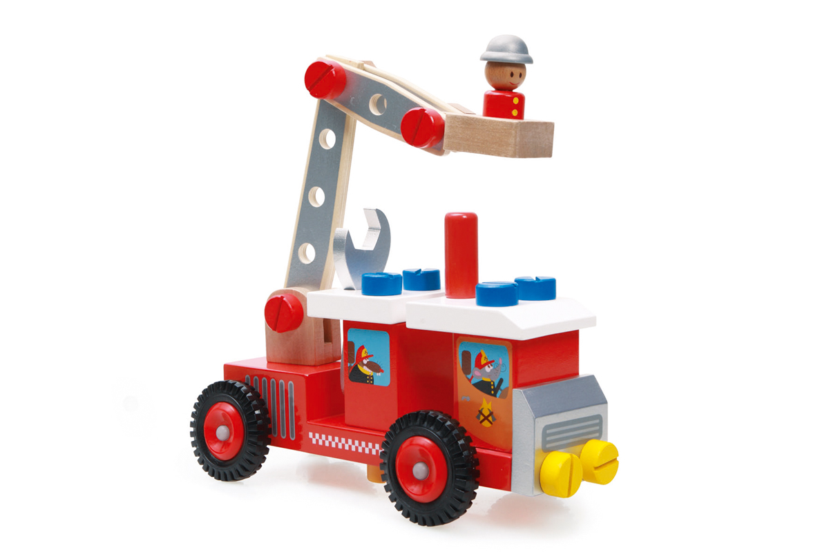 Camion de bomberos de construcción