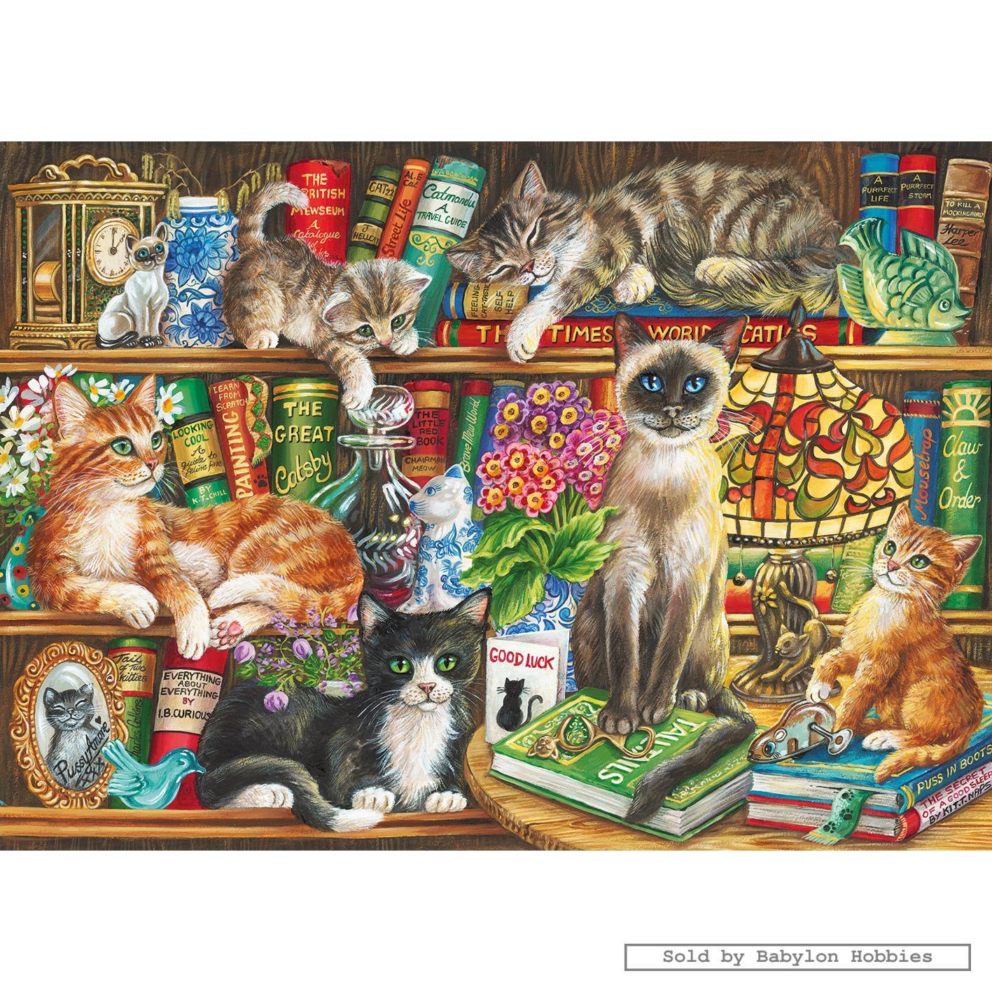 Gatos sobre Libros 1000p.