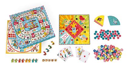 Caja multi juegos de mesa carrusel