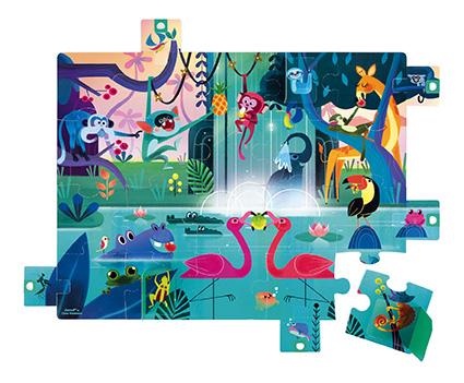 Puzzle Sorpresa Fiesta en la selva x 20 piezas