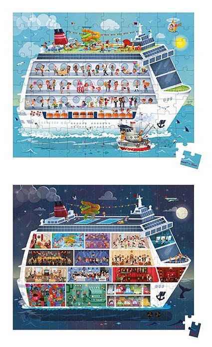 Rompecabezas crucero 2 en 1 x 100 y 200 piezas