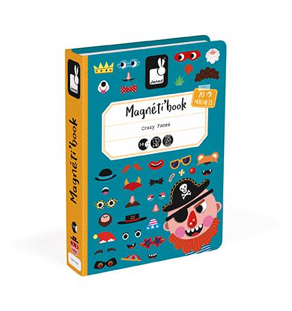 Libro magnético Caras locas niño