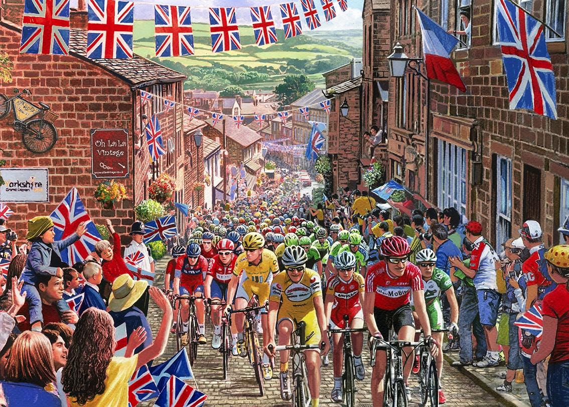 Ciclismo en Yorkshire 1000p.