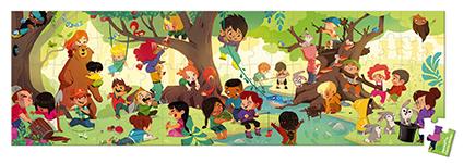 Rompecabezas panorámico Día en el bosque x 100 piezas