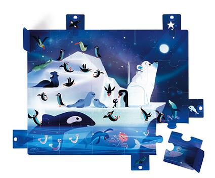 Puzzle Sorpresa Bajo las estrellas x 20 piezas